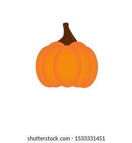 Isolated pumpkin icon on a white background