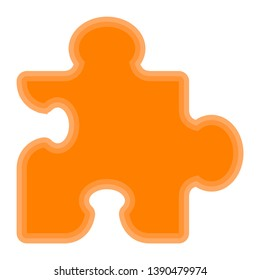 Isolated puzzle piece symbol on white background - Vector