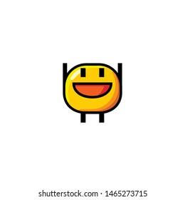 Isolated Raising Hand  Face Emoji, Emoticon, Vector Icon, Pictogram - Vector