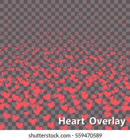 Isolated Raising Heart Shapes | EPS10 Vector