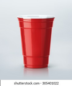 Isolated red party cup, eps 10