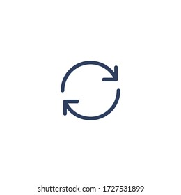 Isolated Refresh Vector Flat Icon, Pictogram