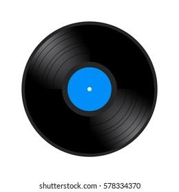 Isolated retro vinyl on a white background, Vector illustration