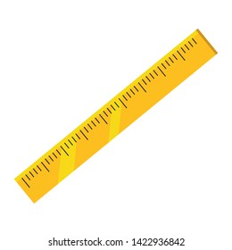 Isolated ruler of school design vector illustration