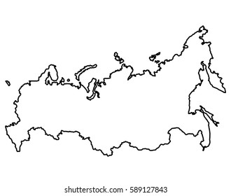 Isolated Russian map on a white background, Vector illustration