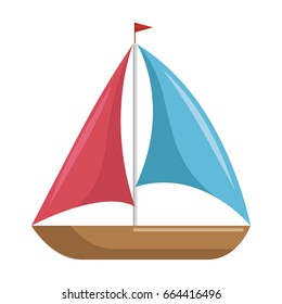 isolated sailboat icon