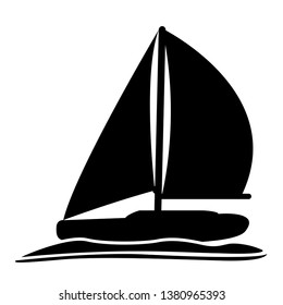 Isolated sailboat icon image. Vector illustration design