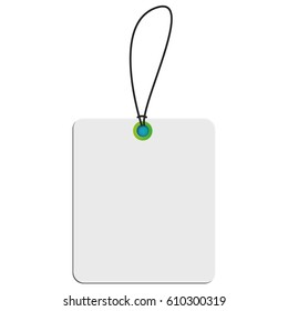 Isolated shopping label on a white background, Vector illustration