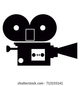 Isolated silhouette of a camera, Vector illustration
