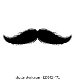 Isolated silhouette of moustache. Vector illustration design
