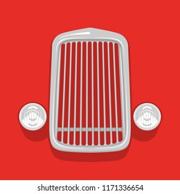 isolated simple vintage car grill iconic icon