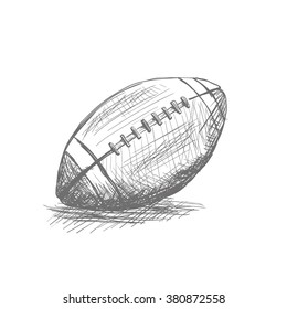 Isolated sketch of a football ball on a white background