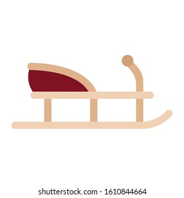 Isolated sled icon. Winter season- Vector illustration design