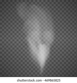 Isolated Smoke on Transparent Background - Vector Illustration