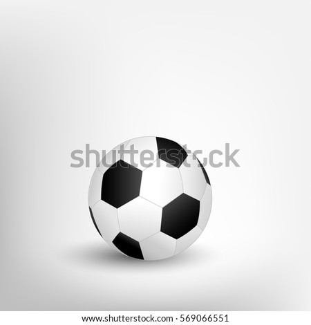 Isolated Soccer Ball On Blank White Background In Vector Illustration Design For Football Template