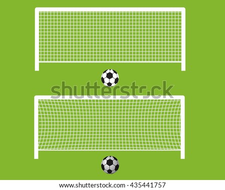 isolated soccer goal football flat style stock vector royalty free