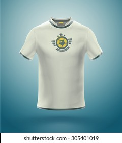 Isolated soccer t-shirt with logo, eps 10