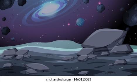Isolated space background scene illustration
