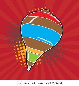 Isolated spin toy on a colored background, Vector illustration