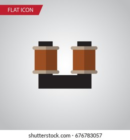 Isolated Spool Flat Icon. Coil Copper Vector Element Can Be Used For Spool, Coil, Copper Design Concept.