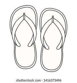Isolated summer flip flops design