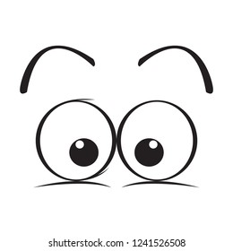 Isolated surprised eyes cartoon. Vector illustration design