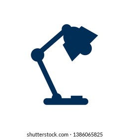 Isolated table lamp icon symbol on clean background. Vector illuminator  element in trendy style.