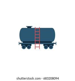 Isolated Tanker Flat Icon. Container Vector Element Can Be Used For Tanker, Container, Oil Design Concept.