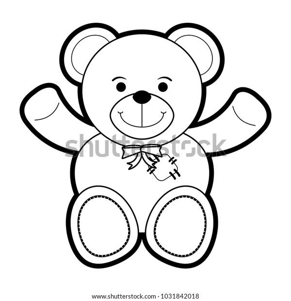 Isolated Teddy Bear Design Stock Vector Royalty Free 1031842018