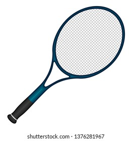 Isolated tennis racket image. Vector illustration design