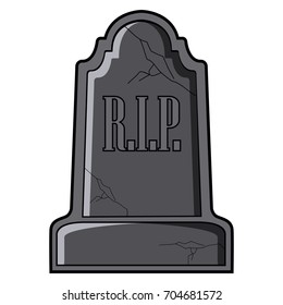 Isolated tombstone icon on a white background, vector illustration