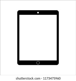 Isolated touchscreen 4:3 black tablet on white background. Tablet symbol vector Illustration. EPS10 compatible