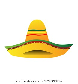 Isolated traditional mexican hat icon - Vector illustraiton