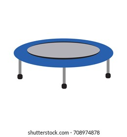 Isolated trampoline icon on a white background, Vector illustration