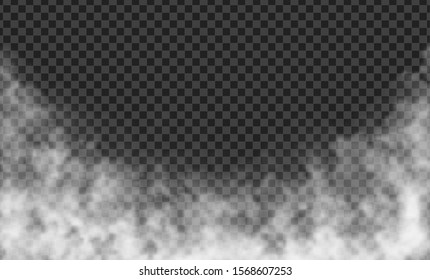 Isolated Transparent Fog, Mist or Smoke Special Effect over Checkered Background