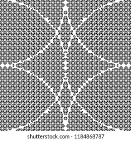 Isolated triangle round pattern vector. Design black on white background. Design print for textile, background, wallpaper, fabrict. Set 1