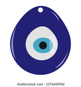 """Isolated Turkish """"Nazar Boncugu"""" or evil eye amulet. It is a symbol of protection against malevolent glare - Eps10 vector graphics and illustration"""