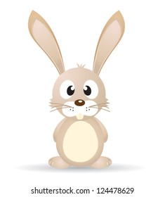 Isolated vector bunny on white background.