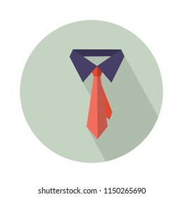Isolated vector Fathers day gift greeting card banner poster with relistic satin blue necktie knot. Male tie. symbol of love DAD