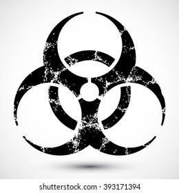 Isolated vector illustration of biohazard symbol. Icon can be used as a poster, wallpaper, t-shirt design, webdesign.