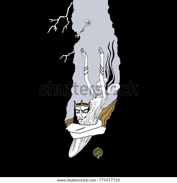 Isolated Vector Illustration Hades Persephone Greek Stock
