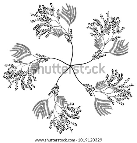 Isolated Vector Illustration Round Floral Element Stock