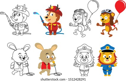 isolated vector illustration sets coloring 260nw