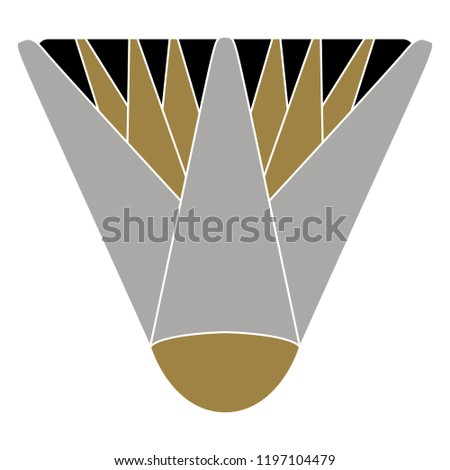 Isolated Vector Illustration Stylized Lotus Flower Stock Vector