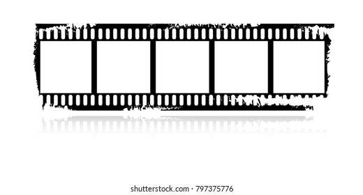 Isolated vector movie negative.  Abstract design.
