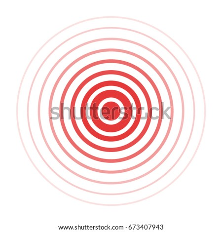 Isolated Vector Red Ring Pain Circle Stockvector Rechtenvrij