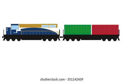 Isolated vector of  train.