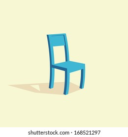 Isolated vector wooden chair