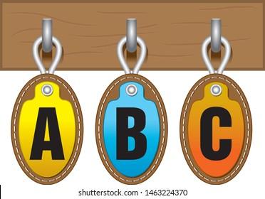 isolated vectoral suspenders,suspenders labels (TR:asılı etiketler,askıda etiketler).