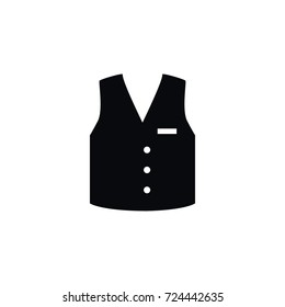 Isolated Vest Icon. Waistcoat Vector Element Can Be Used For Waistcoat, Vest, Cloth Design Concept.